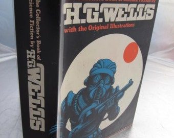 1979 The Collector's Book of Science Fiction By H.G. WELLS With The Original Illustrations