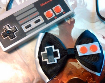Nintendo NES Game Controller Inspired Hair Bow