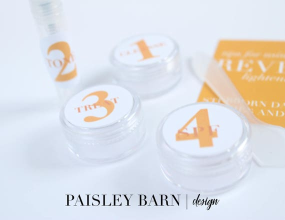 ORANGE 4 Step Regimen Travel Kit | skincare, travel kit, toner, containers, stickers, carry on, lightening