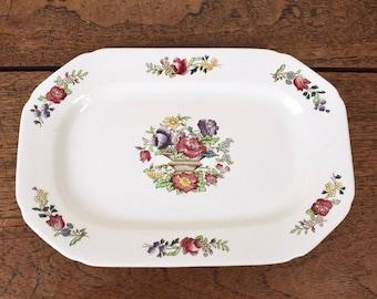 Cream vintage Spode serving or sandwich plate.