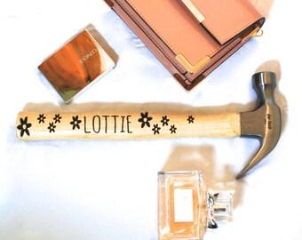 Flower Hammer - Personalised Gift Mum - Girlfriend Gift - Gifts For Girlfriend - Gardening Gift - Engraved Hammer - Tool Box - DIY Gift