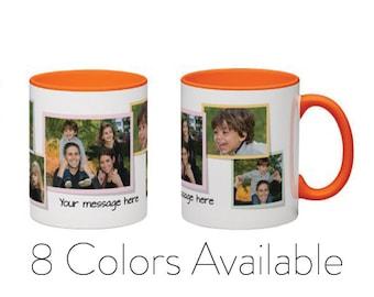 Custom Collage Photo Mug, Personalized Tea Mug, Photo Coffee Mug, 11 oz Coffee Mug, Custom Coffee Mugs, Personalized Gift, Unique Gift For