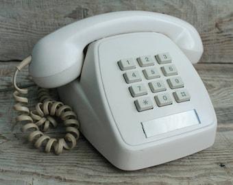 Vintage Push-button phone STC Australia 1985 year / old Push-button phone / Push-button telephone / vintage landline phone / Old Phone