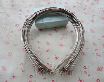 50pcs 3mm Silver plated metal headband with bent end--H3008-50