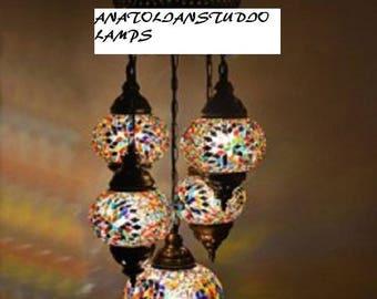 Turkish chandelier etsy turkish handmade mosaic lampsmoroccan lampsfloor lampsunique light fixture aloadofball Choice Image