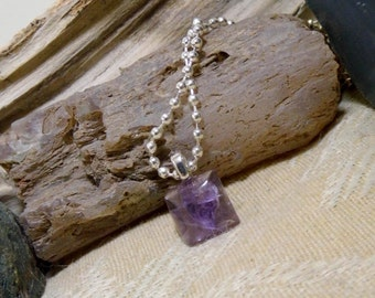 Amethyst Gemstone Pendant Small Petite, Teachers, Friends, Birthstone, February