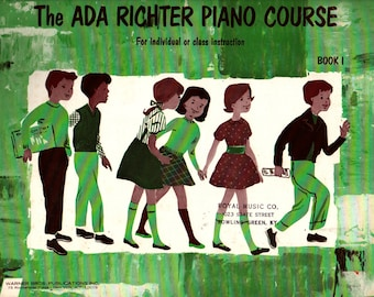 The Ada Richter Piano Course Book One + 1954 + Vintage Music Book
