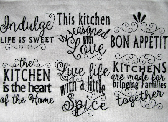 High Quality Kitchen Lovely Quotes   Machine Embroidery Designs   4x4 And 5x7   Kitchen  Towels Embroidery Collection INSTANT DOWNLOAD From Artapli On Etsy Studio