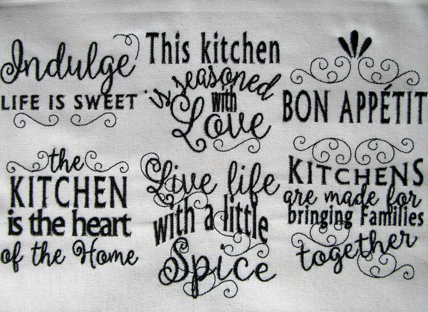 Kitchen lovely quotes machine embroidery designs 4x4 and