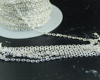 Silver metal mesh chain 10 meters
