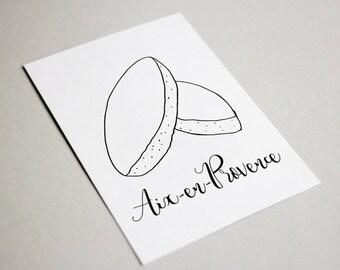 Aix en Provence - Calissons postcard