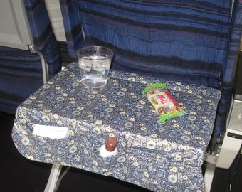 Airplane Tray Cover, air travel tray pockets,