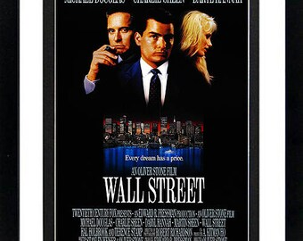 Wall Street Movie Poster Framed Many Sizes available