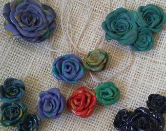 Hippy Dippy Rose Pendants