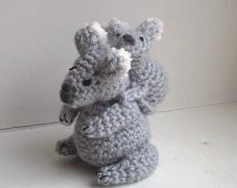 Free Amigurumi Koala Pattern : Koala bear lovey pattern security blanket crochet lovey