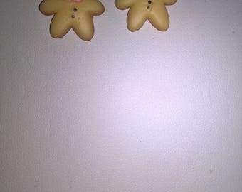 Earrings small gingerbread man d spice
