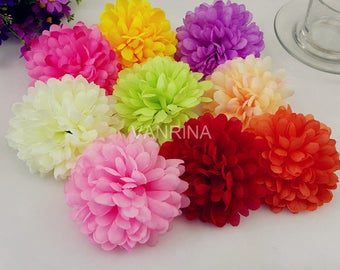 Bulk Silk Flowers Artificial Flower Heads Daisy 100 Flowers Wholesale Flowers For Wedding Arch Kissing Balls Home Party Decoration CJ-QCJ