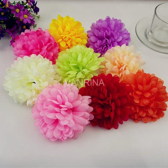 Bulk silk flowers artificial flower heads daisy 100 flowers like this item mightylinksfo