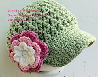 Crochet Hat Pattern Bubnut Best Seller Newsboy Hat Crochet Pattern P207 4U To Make Yourself English