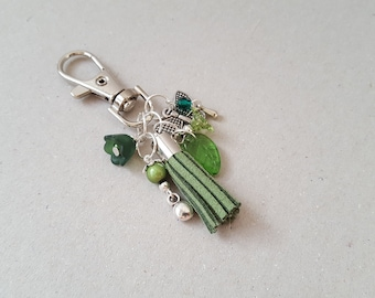 Keychain floral Green