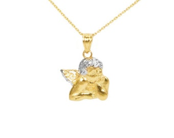 10k Yellow Gold Angel Necklace
