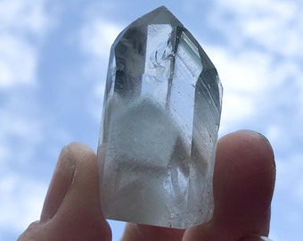 Clear Quartz Standing Point with Chlorite Phantom