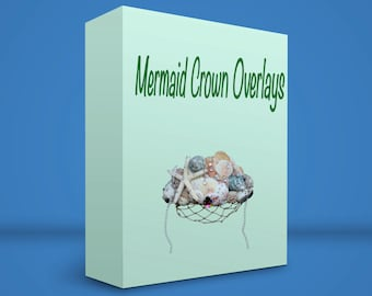 Mermaid Crown Digital Overlays