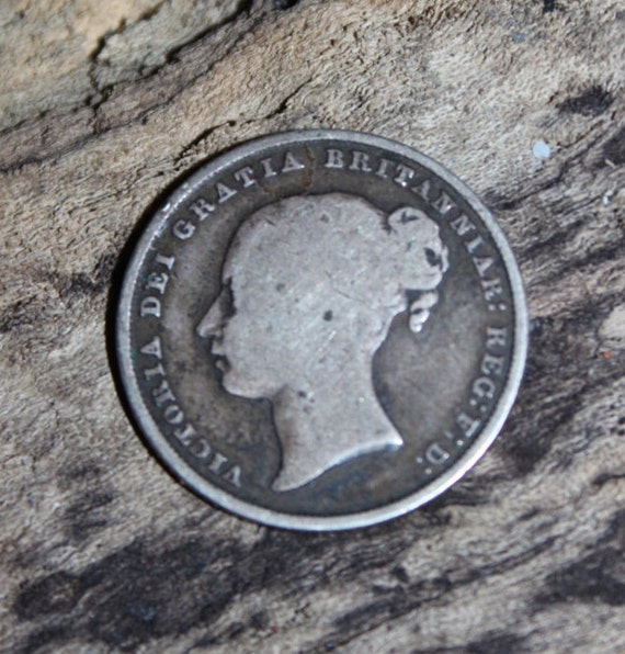 1849 Queen Victoria Young Head Shilling Ungraded Silver Shilling British Antique Coin Old Money Victorian