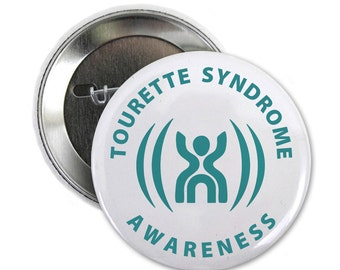 Tourette Syndrome Awareness Pin Back Button Badge (Choose Size)