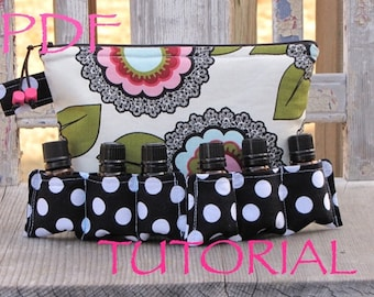 PDF TUTORIAL / PATTERN for up to 20 Bottles Essential Oil Bag