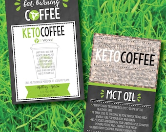 Printable It Works Global Keto Coffee Sample Cards Digital File Only