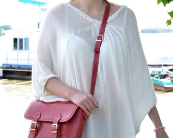 Red Leather Bag, Leather Messenger Bag, Leather Shoulder Bag, Custom Leather Bag,Leather Messenger,Leather Handbag, Leather Crossbody Bag