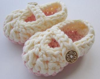 Crochet bébé chaussons Mary Janes