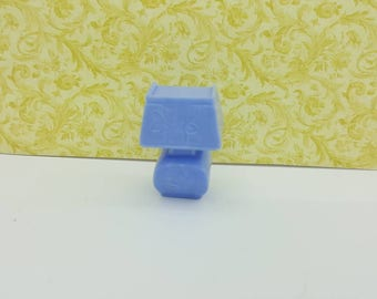 Marx Table lamp  soft Plastic Blue   Toy Dollhouse Contemporary  Style