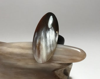 Hand Carved Horn Ring