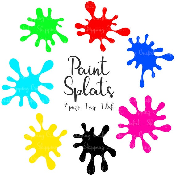 paint splats svg dxf png silhouette cricut vector clipart rh etsystudio com vector paint splatter free vector paint splatter illustrator