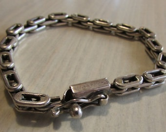 Sterling Silver Link Chain Bracelet from Mexico