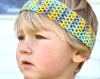Spring Kid Headband / Kids Hair Accessory / Spring Crochet Headband / Toddler Headband / Long Hair Boy Headband, Unisex Accessories