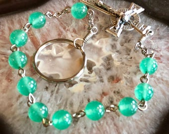 Green Stone One Decade Penal Rosary