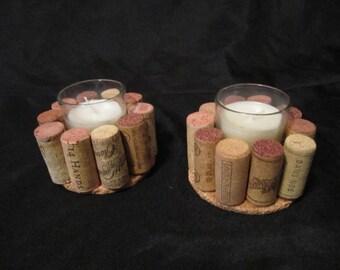 Votive Wine Cork Candles