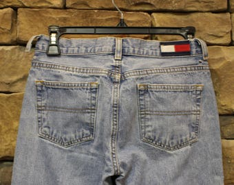 CLEARANCE Vintage Tommy Hilfiger Jeans  Women's Size 1  Hipster  Lower Rise  Stonewash  Lightweight  Flag Logo