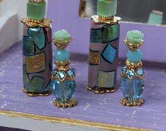 4 miniature perfume bottles for Fashion Royalty, Poppy Parker, Barbie