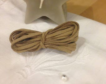 Taupe suede cord