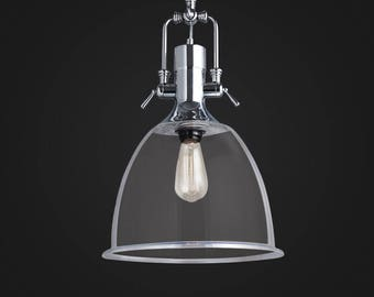 Bell Jar Kitchen Pendant - glass lamp - ceiling lamp - mounted lamp - E27 - edison bulb - industrial style - hanging lamp - Edison bulb lamp