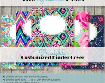 Printable Binder Covers - Lilly Pulitzer Inspired Collection - Custom Binder Inserts