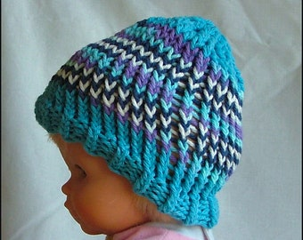 Baby Hand-Knit Cotton Beanie