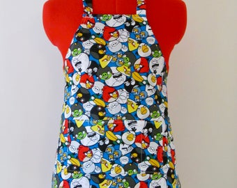Kids Apron - Angry Birds Childrens Apron - Childs Apron - Kitchen Accessory