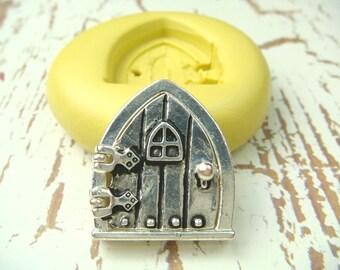 Fairy Door Series (design 3) - Flexible Silicone Mold - Push Mold, Polymer Clay Mold, Resin Mold, Clay Mold, Jewelry Mold