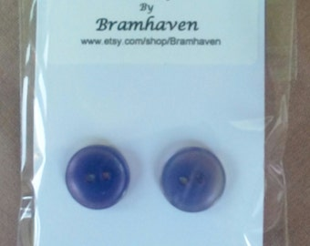 Up cycled 10mm lilac vintage button stud earrings