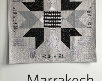 Marrakech, a PDF modern quilt pattern in two sizes by Heather Jones